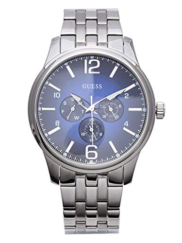 GUESS Factory Men's Silver-Tone Multifunction...