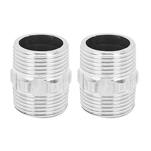 FOTABPYTI 2-teiliger Rohrverbinder, Edelstahl-Gewinderohr, für Hardware-Baustoffe Sanitär-Druckluftgas