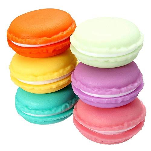 Ruitng - Mini macaron, scatola per anelli, macaron, 6 pezzi
