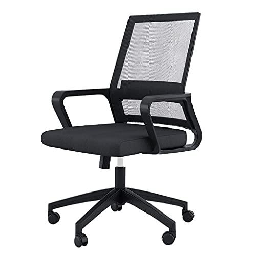 Boutique chair - Ergonomiczne krzesło biurko z regulowaną wysokością, krzesło biurowe z kółkami dla kobiet, mężczyzn czarny | Kod towaru: LJW-208