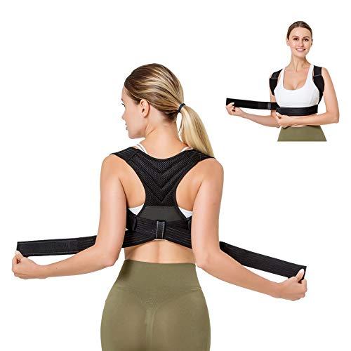 BRZSACR Corrector de Postura Espalda para Hombres&Mujeres,enderezador Espalda, cinturón corrección Postura (M)