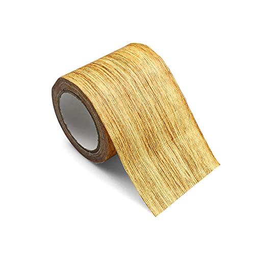 Woodgrain Repair Cinta Adhesiva Realista Cinta de Reparación de Muebles para Gabinetes de Piso de Grano de Madera (8cm*4.57m)-Camello Dorado