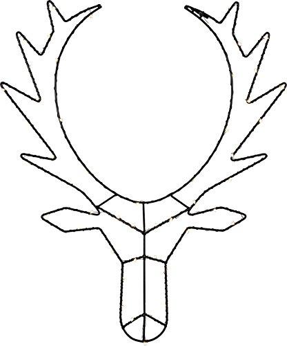 Star 582-54 Cupid Renne lumineuse à DEL head, Métal, Noir