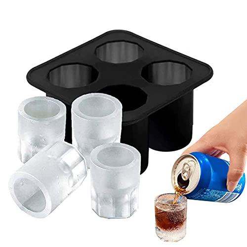 Moule de bac à glaçons, verres à liqueur créatifs en silicone moule à glace chope de bière outil de consommation de whisky fabricant de glaçons en verre pour la cuisine à la maison de fête dété