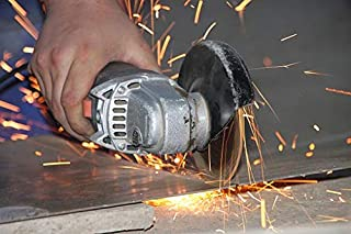 Angle Grinder 18V, HYCHIKA Cordless Angle Grinder 8500RPM with 5 115mm Grinding Discs, 4.0Ah Lithium-ion Battery & Fast Ch...