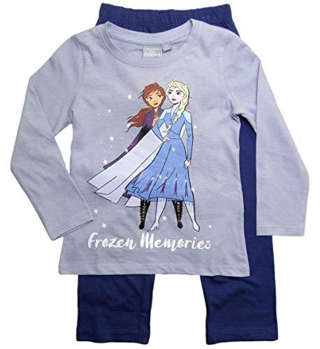 Frozen - Die Eiskönigin Mädchen Schlafanzug ELSA Pyjama (Blau/Lila/Rosa, 122-128)