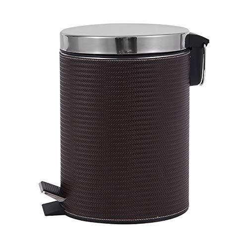 KANGJIABAOBAO Prullenbakken 8L Badkamer Bin Met Deksels Kleine Pedaal Bin Voor Toilet Wastafel Rubbish Afval Prullenbak Met Verwijderbare Binnen Emmer Bruin Afval & Recycling