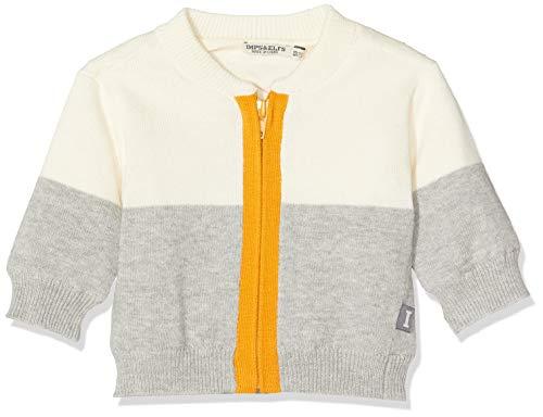 Imps & Elfs Baby-Unisex U Cardigan Long Sleeve Strickjacke, Mehrfarbig (Grey Melange P338), (Herstellergröße: 62)