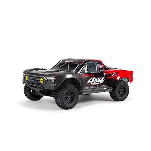 ARRMA 1/10 SENTON 4X4 V3 MEGA 550 Brushed Short Course RC Truck RTR (Transmitter, Receiver, NiMH Battery and Charger Included), Red, ARA4203V3T1