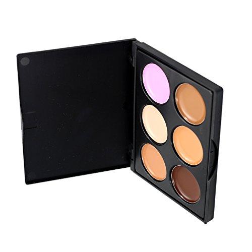 MagiDeal Pro 6 Teintes Mates Contour Correcteurs de Teint Anti-tâches Anticernes Poudre Ombre à Paupières Palette Maquillage - # 2, Taille réelle
