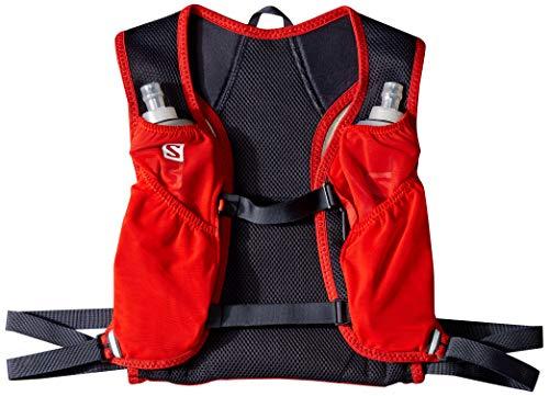 Salomon Agile Set 2 Mochila para Carrera de montaña, Unisex Adulto, Rojo y Gris (Fiery Red/Graphite), Talla única