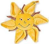 Steiff Sonne, Mond und Sterne Schmusetuch - 28 cm - Schmusetuch für Babys - weich & waschbar - gelb (239953)