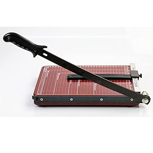 YDHNB Cortador de Papel A4,Base de Metal,Guillotina,Puede cortando 12 Hojas al Mismo Tiempo Papel Longitud de Corte de 290 mm