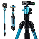MACTREM Professional Camera Tripod DSLR Tripod for Travel, Super Lightweight and...