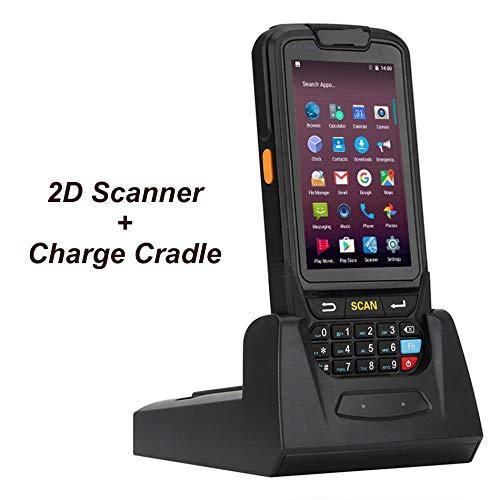 TQ Smartphone à écran Tactile sans Fil WiFi 4G Android 7.0 Poche collecteur de données Mobiles de Codes à Barres 1D PDA Lecteur de Codes Barres 2D,2dandchargecradle