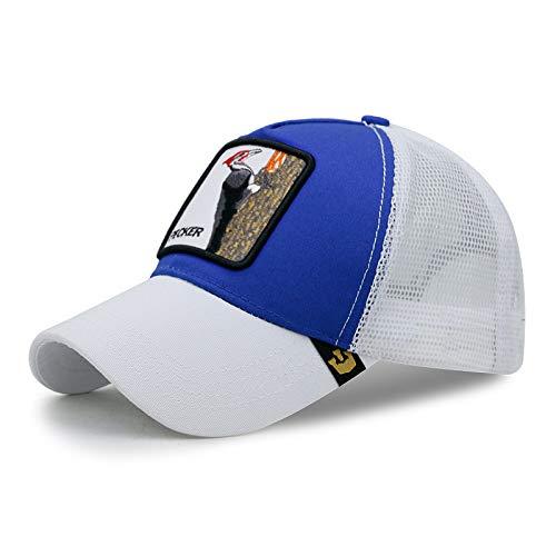 Sonnenschutz Sonnenhut Mode Atmungsaktive Cartoon Baseballmütze 56-60cm Specht-Weiß-Blau