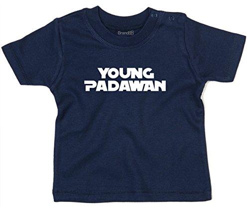 Brand88 Young Padawan, T-Shirt imprimé bébé, Nautique Bleu Marine/Blanc, 18-24 Mois