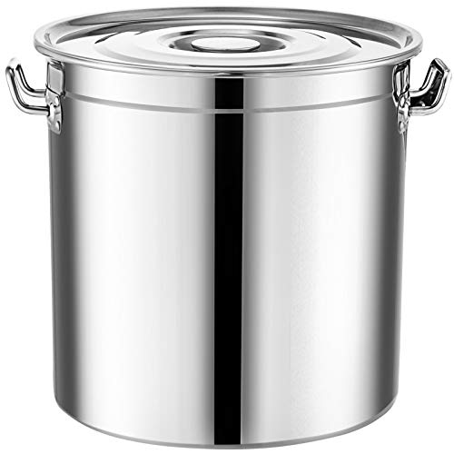 Mophorn Brew Kettle Stockpot with Lid Stainless Steel Bot Brewing Home Brewing for Beer Brewing, Maple Syrup, Stainless Steel Stock Pot Cookware (180 Quart)