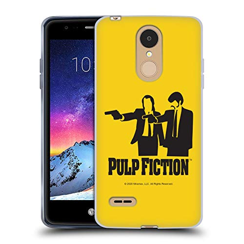 Head Case Designs Officially Licensed Pulp Fiction Vince Jules Silhouette Art Soft Gel Case Compatible with LG K8 / K9 (2018)