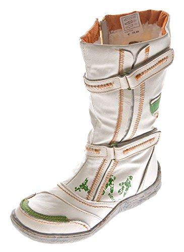 Damen Leder Winter Stiefel Comfort Boots TMA 14411 Schuhe Weiß gefüttert Gr. 40