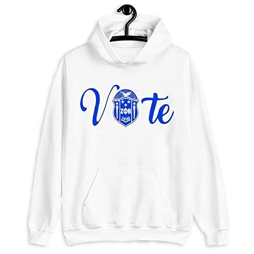 Vote Zeta Phi Beta Logo Classic Hoodie Vote 2020 Election Hoodie Women Vote Hoodie, Vote Zeta Phi Beta Logo Classic T Shir. | Black Novelty Unisex Lightweight Pullover Hoodie