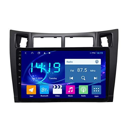 Dscam Auto Multimedia Player, Android 9.1 System 9 Zoll Touch Bildschirm Autoradio GPS Für Toyota Yaris 2008-2011,mit Navigation Radio Stereo WiFi Bluetooth