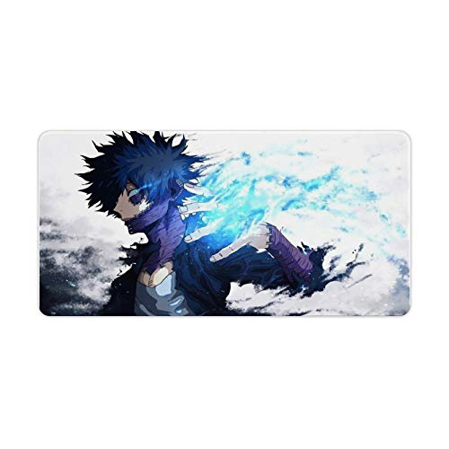 Extended Gaming Mouse pad My Hero Academia Dabi 2 Smooth Mousepad, Large Desk Mat,Waterproof Anti-Dirty No-Slip Stitched Edges Mousepads 12x24inch