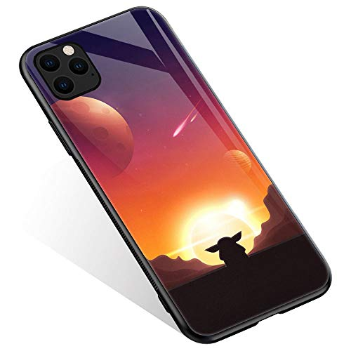 iPhone 12 Pro Case,Anime Movie 549 Pattern Design iPhone 12 Pro Cases, Tempered Glass Back + Soft Silicone TPU Shock Absorption Bumper Protective Case Compatible for iPhone 12/12 Pro