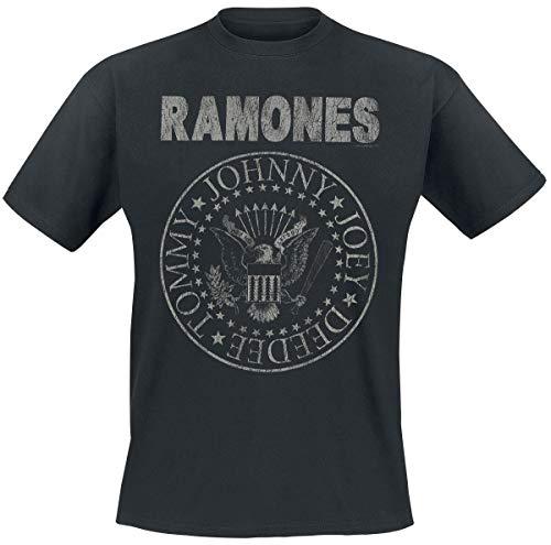 Ramones Hey Ho Let's Go - Vintage Männer T-Shirt schwarz 5XL