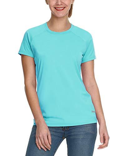 BALEAF Women's UPF 50+ UV Sun Protection T-Shirt Outdoor Performance Short Sleeve Blue Size XL