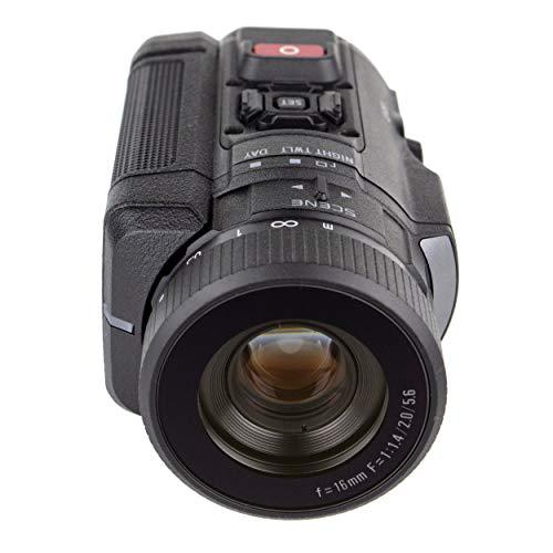 SIONYX Aurora Black I True Color Cámara de visión nocturna digital con montaje en riel Picatinny I Tecnología IR de luz ultra baja I Clasificación de armas, resistente al agua, WiFi y lapso de tiempo.