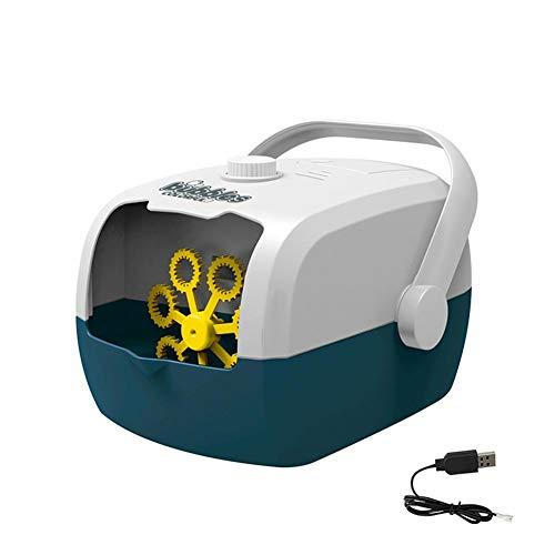Máquina de soplado de burbujas de Terynbat, recargable portátil de la burbuja de la máquina de carga automática eléctrica pistola de burbuja boda etapa al aire libre fiesta interior