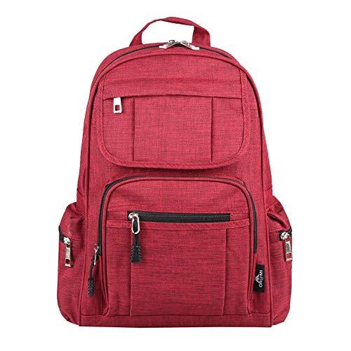 OBC Unisex Erw. & Kinderrucksack Rucksack Schultertasche Tasche Canvas Nylon Tablet bis ca. 10 Zoll (Rot)