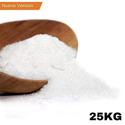 Sal de Epsom, 25 Kg, Fuente concentrada de Magnesio, Sales 100% Naturales. Baño y Cuidado Personal. Cristales con alta solubilidad