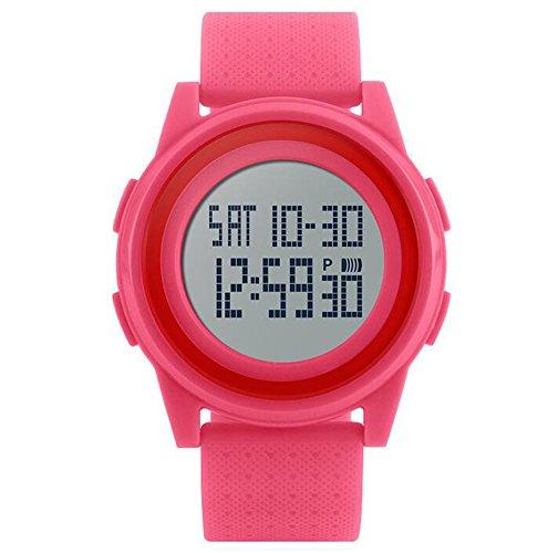Oumosi Unisex LED Deportes al Aire Libre Reloj Ultra Fina Digital Militar multifunción Reloj de Pulsera