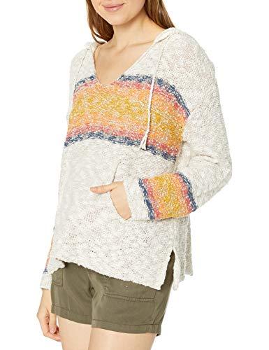 Rip Curl Damen Wave Rider Poncho Sweatshirt, vanille, X-Large