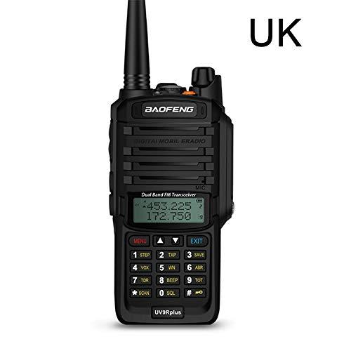 2595/5000 Walkie Talkies, con audífonos originales UV-9R Plus Walkie Talkie, IP67 Radio CB impermeable VHF UHF Banda dual Radio bidireccional Portátil 10 km de largo alcance FM Transceptor digital por