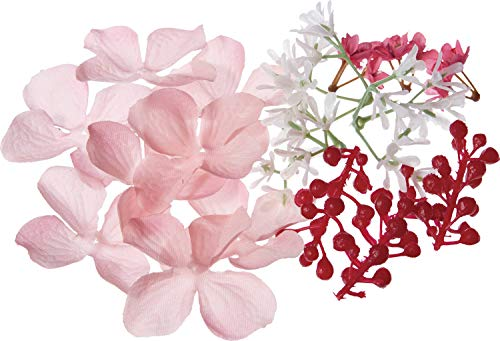 ポピー(Popy) 造花 ハーバリウムキット ピンク 全長2.2~3.2cm・花径3.2実径0.7~0.9m FBC-8170P