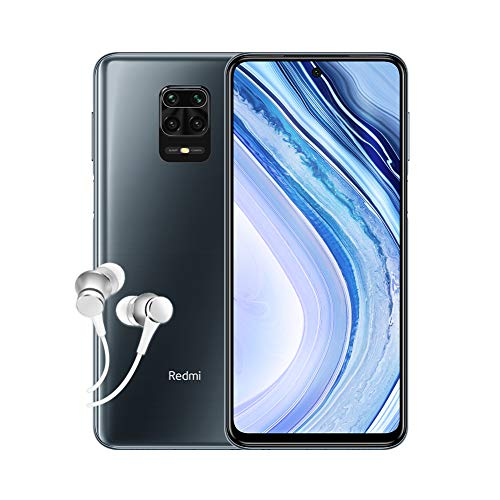 Xiaomi Redmi Note 9 Pro Smartphone 4G (6.67 Zoll, 6GB RAM, 64GB Speicher, 5020mAh, Quad Camera, NFC), grey [deutsche Version]