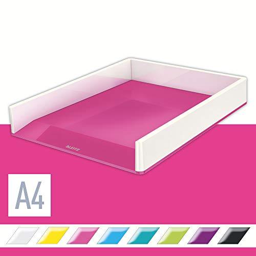 Leitz, A4 Briefablage, Weiß/Metallic Pink, WOW, 53611023