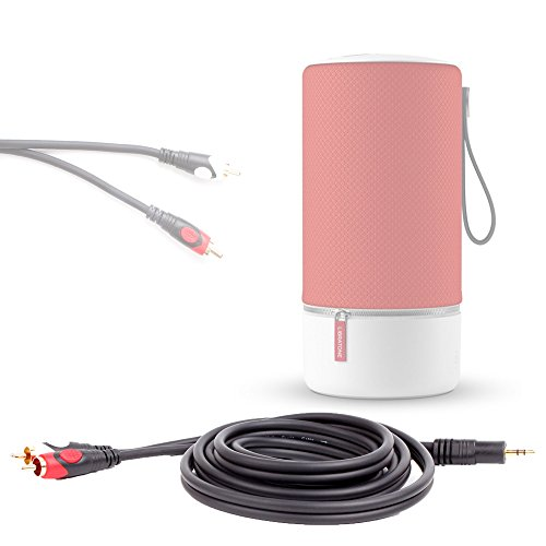DURAGADGET Câble Audio stéréo Mâle vers 2X RCA pour Libratone Zipp et Zipp Mini Enceintes Portables sans Fil sans Fil