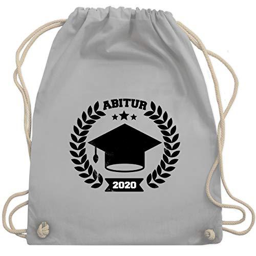 Shirtracer Abi & Abschluss - Abitur 2020 Vintage Effekt - Unisize - Hellgrau - abitur geschenke - WM110 - Turnbeutel und Stoffbeutel aus Baumwolle