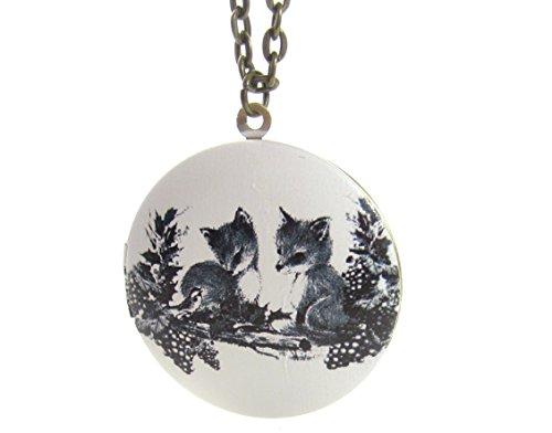 schmuck-stadt Fuchs Amulett Kette 60 cm Bronze-Farben Modeschmuck