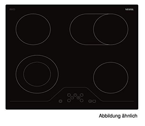 Vestel vea24046 autarkes Verre Céramique Plaque de cuisson | | 4 zones | Deux Cercle de Zone de Cuisson – Plaque de cuisson encastrable 60 x 60 avec TouchControl