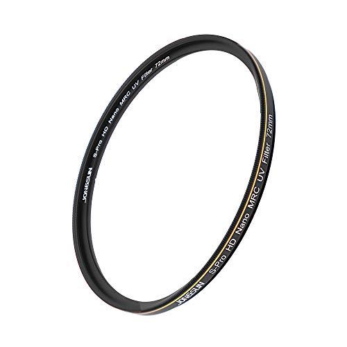 JONGSUN S-Pro HD Nano MRC UV Filter 72mm, 16-Lagig Mehrlagenbeschichtung, Schott B270, Kameras Ultraviolett Schutzfilter Filter