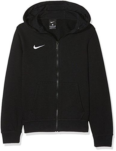 Nike Kinder Sweatshirt Team Club Full Zip Kapuzenjacke,Schwarz (Black/Black/Football White), M