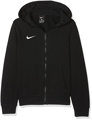 Nike Kinder Sweatshirt Team Club Full Zip Kapuzenjacke,Schwarz (Black/Black/Football White), S