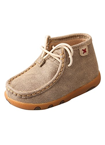 Twisted X Infant Driving Moccasins, Color: Dusty Tan, Size: 6, Width: M (ICA0005-6-M0