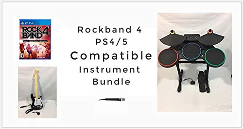 Rock Band 4 PS5 and PS4 Compatible Band-in-a-Box Super Bundle Guitar Hero Drums Upgrade