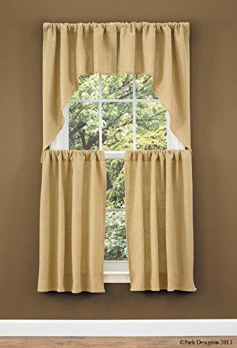 Park Designs Burlap Swag Curtain Pair 72W x 36L